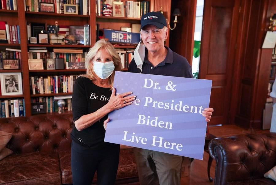 Jill Biden celebra triunfo de su esposo en elecciones de EEUU