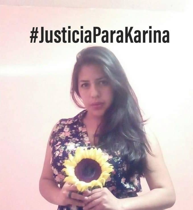 Internautas exigen justicia por el feminicidio de Karina