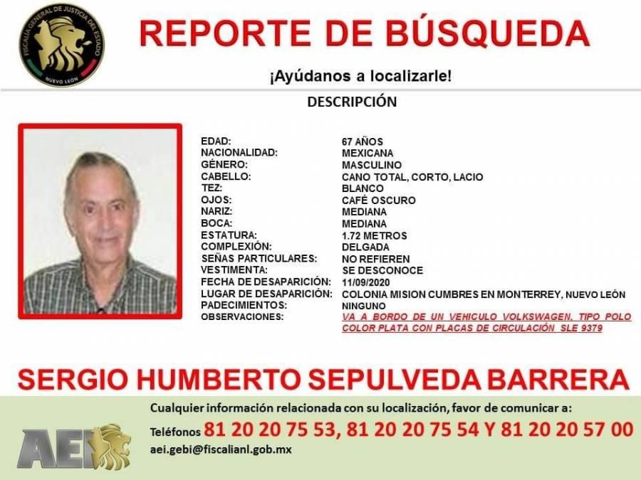 Encuentran sin vida a catedrático de la Universidad de Monterrey desparecido hace 2 meses