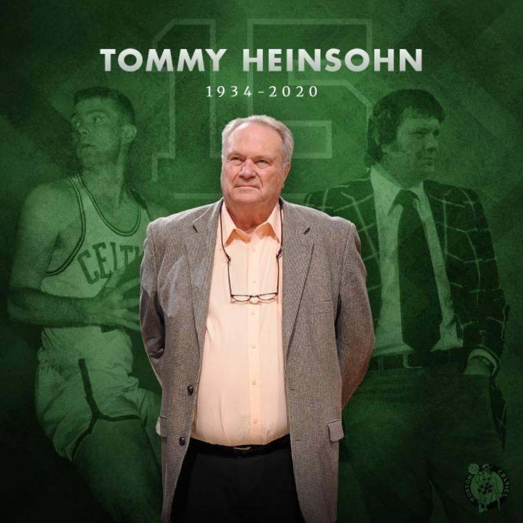 Muere Tom Heinsohn, leyenda de los Celtics de Boston
