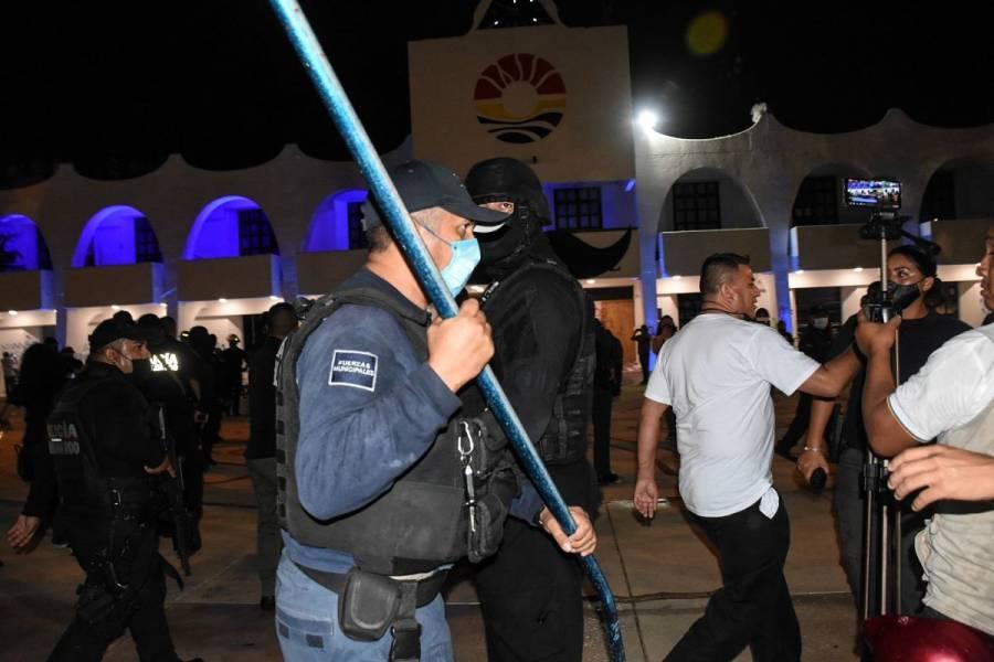Segob exige investigación por represión policial en Cancún