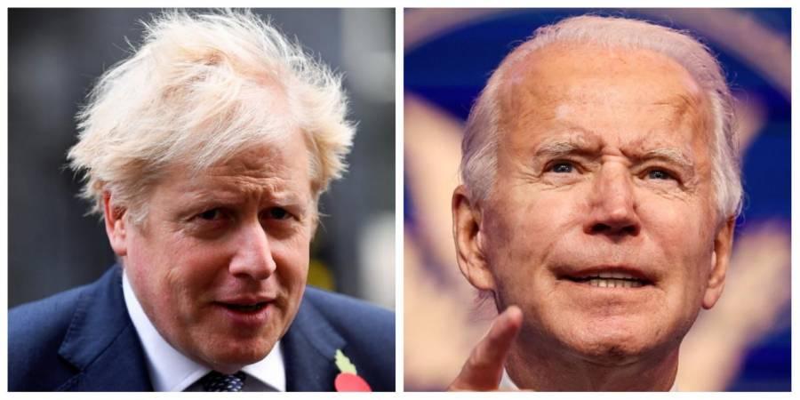 Boris Johnson conversa con Biden y pide atender intereses en común