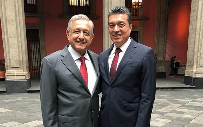 Rutilio Escandón se reúne con el presidente López Obrador y el gobernador de Tabasco