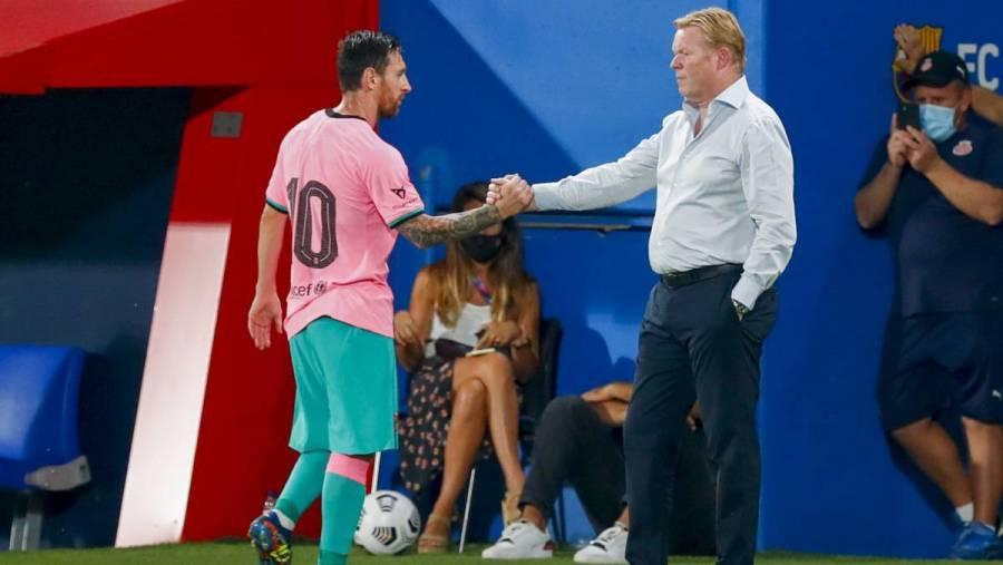 Barcelona siempre será mejor con Messi que sin él: Ronald Koeman