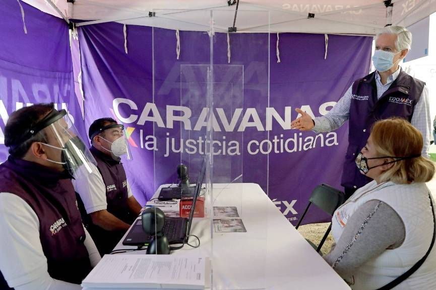 Reactivan de forma presencial las Caravanas por la Justicia Cotidiana en Edomex