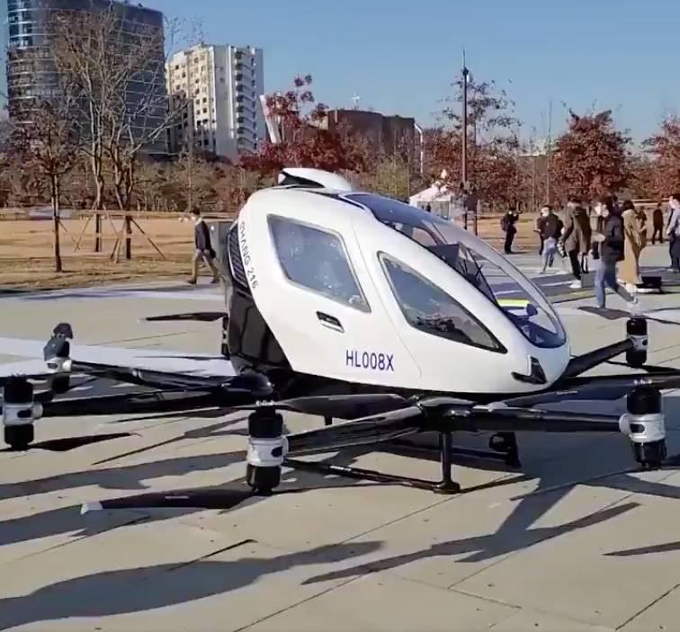 Autoridades de Corea del Sur presentan sus taxis voladores