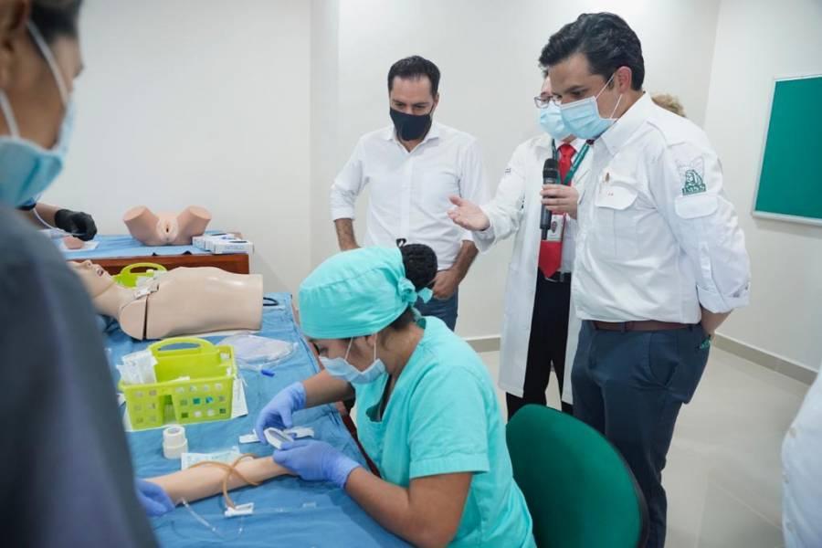 Centro de Simulación para la Excelencia Clínica y Quirúrgica: Inauguran gobierno de Yucatán e IMSS