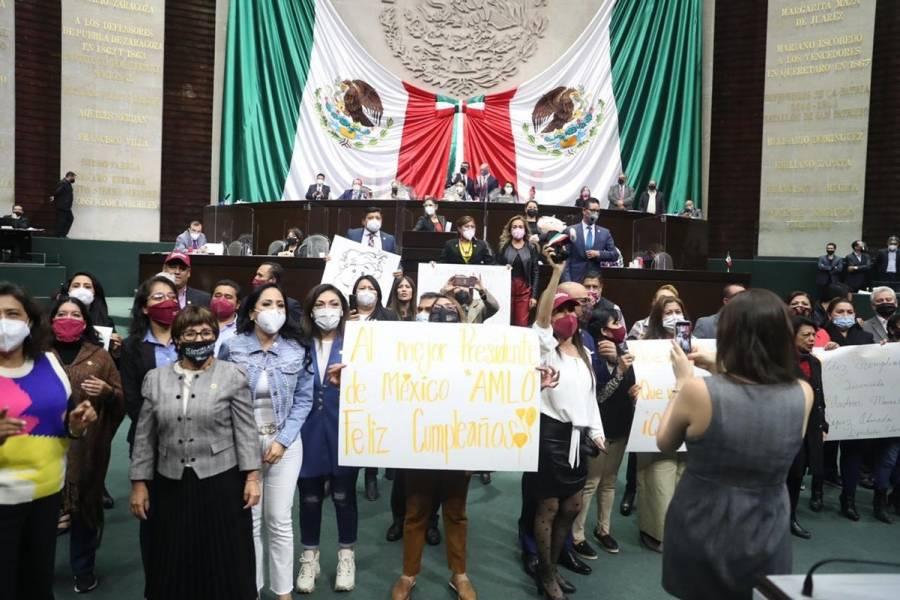 Diputados cantan 'Las Mañanitas' a AMLO en medio de sesión por Presupuesto 2021