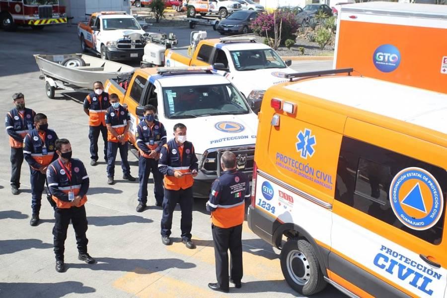 Guanajuato envía brigada de rescate a Tabasco para apoyar a damnificados