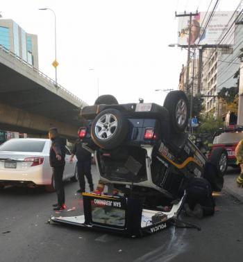 Policía capitalino fallece después de que un vehículo chocara contra su patrulla
