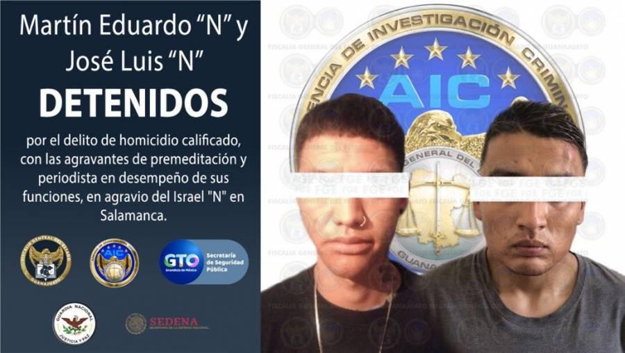 Detienen a presuntos responsables del asesinato del periodista Israel Vázquez