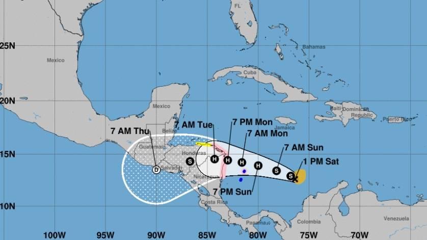 Iota se convierte en huracán y lanzan advertencia para Nicaragua y Honduras