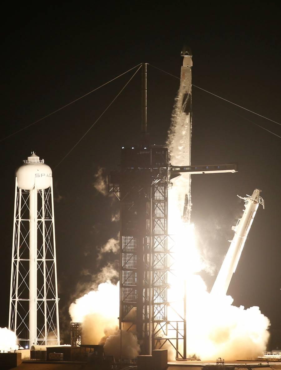 El primer viaje comercial tripulado a la Estación Espacial de SpaceX y la NASA