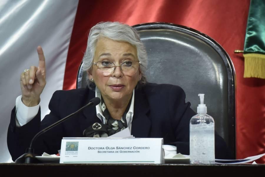 Sánchez Cordero se deslinda del proceso electoral 2021