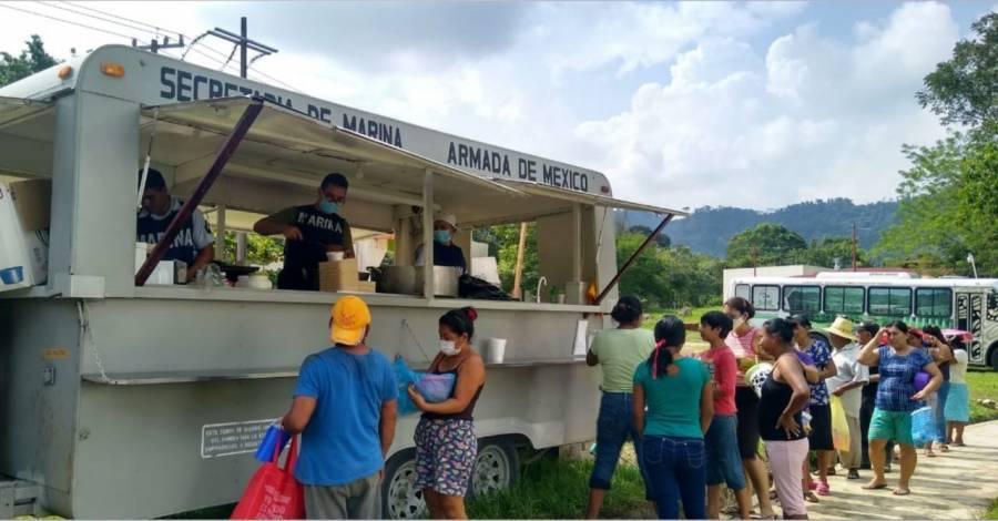 En Tabasco van 9 toneladas repartidas de ayuda humanitaria
