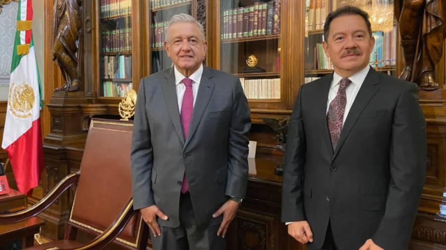 AMLO se reúne con Ignacio Mier, nuevo presidente de la Jucopo en San Lázaro
