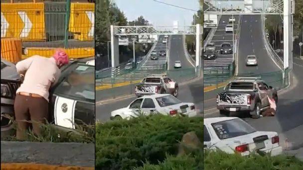 Automovilista arrolla a mujer en la Ciudad de México; se da a la fuga
