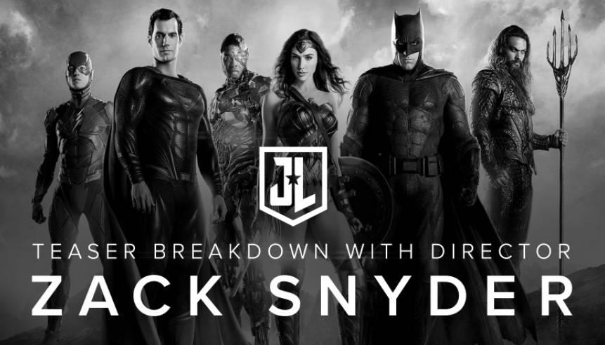 Zack Snyder presenta en blanco y negro, nuevo tráiler de Justice League