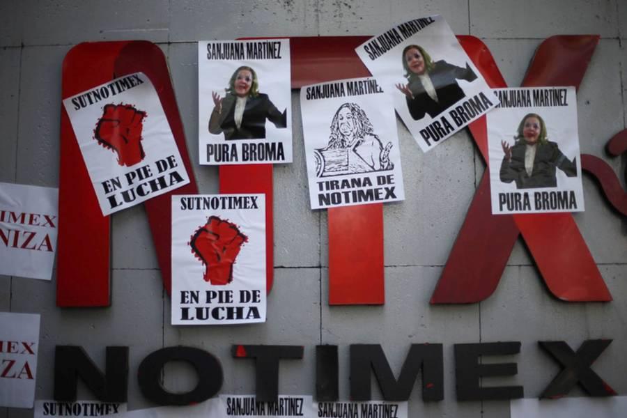Agremiados del SiNotimex y trabajadores sin sindicato apoyan huelga promovida por SutNotimex