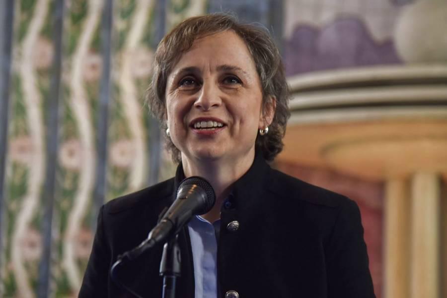 Carmen Aristegui recibe el Premio 2020 para la Protección a Periodistas