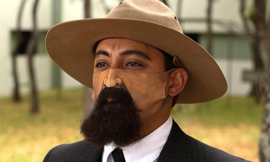 Ejército usará cubrebocas con bigotes en conmemoración de la Revolución Mexicana