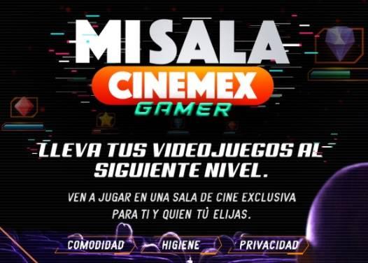 Cinemex sube el nivel y rentará sus salas para jugar videojuegos