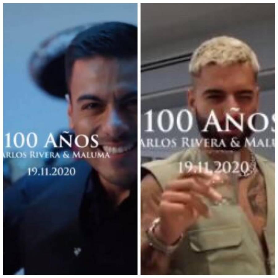 """Con mariachi, Carlos Rivera y Maluma lanzan la canción """"100 años"""""""