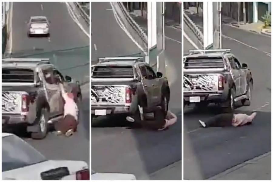 Ubican a dueño de la camioneta que arrollo a una mujer después de un choque