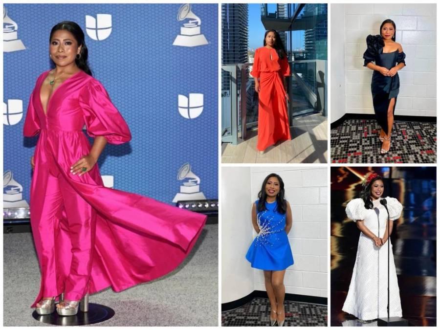 Espectaculares diseños los que utilizó Yalitza Aparicio durante los Grammy 2020
