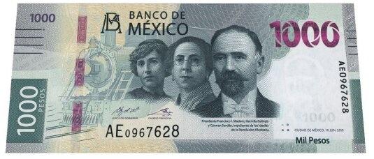 Nueve billete de mil en circulación