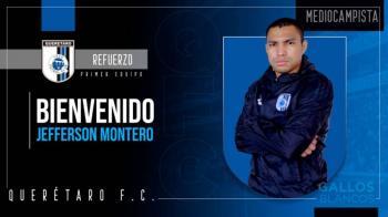 Oficial: Jefferson Montero, nuevo jugador del Querétaro