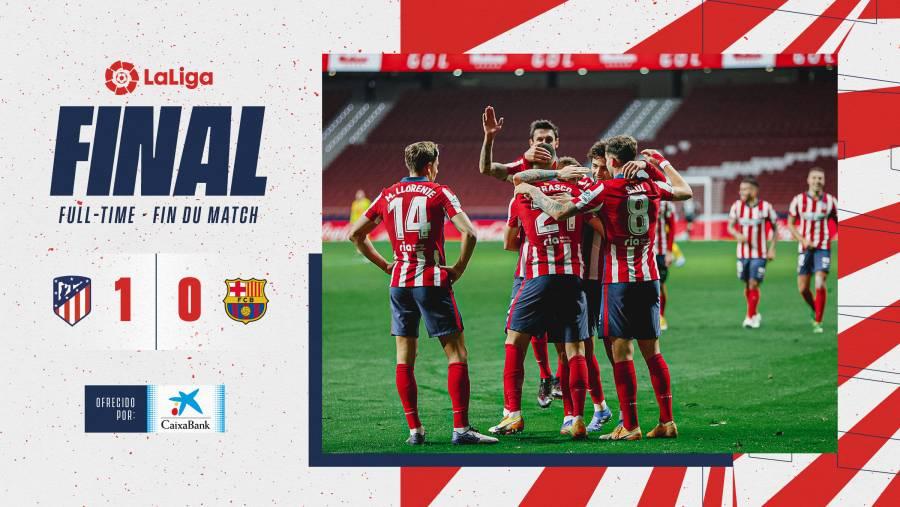 Atlético de Madrid logra vencer al Barcelona, hace 10 años no pasaba