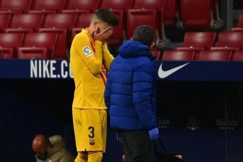 Gerard Piqué sufre lesión en la rodilla ante el Atletico Madrid
