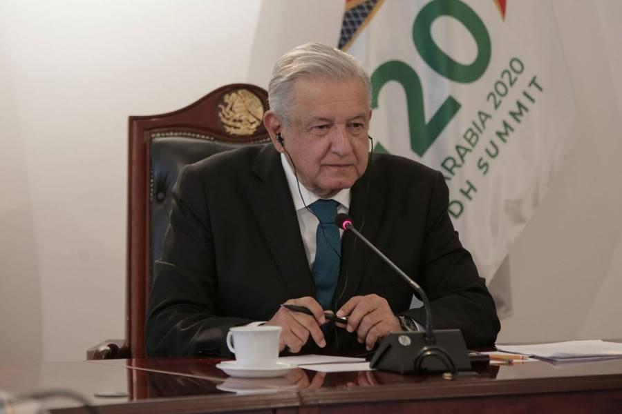 AMLO pide mejorar condiciones de la deuda externa ante líderes del G20