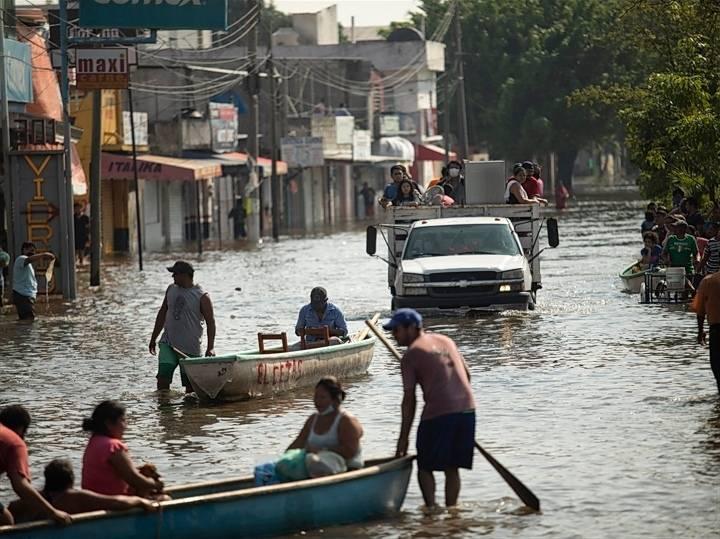 Posible desbordamiento del río Usumacinta causa alerta máxima en Tabasco