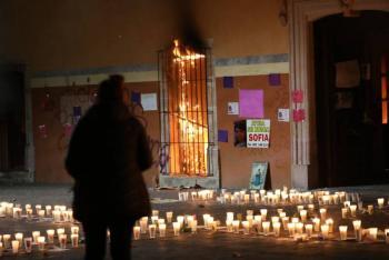 Tras muerte de Sofía, incendian palacio municipal de Fresnillo
