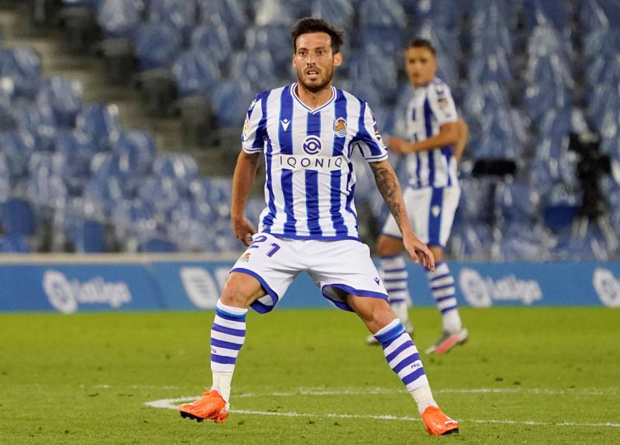 David Silva se lesiona y causa baja para Real Sociedad en Europa League