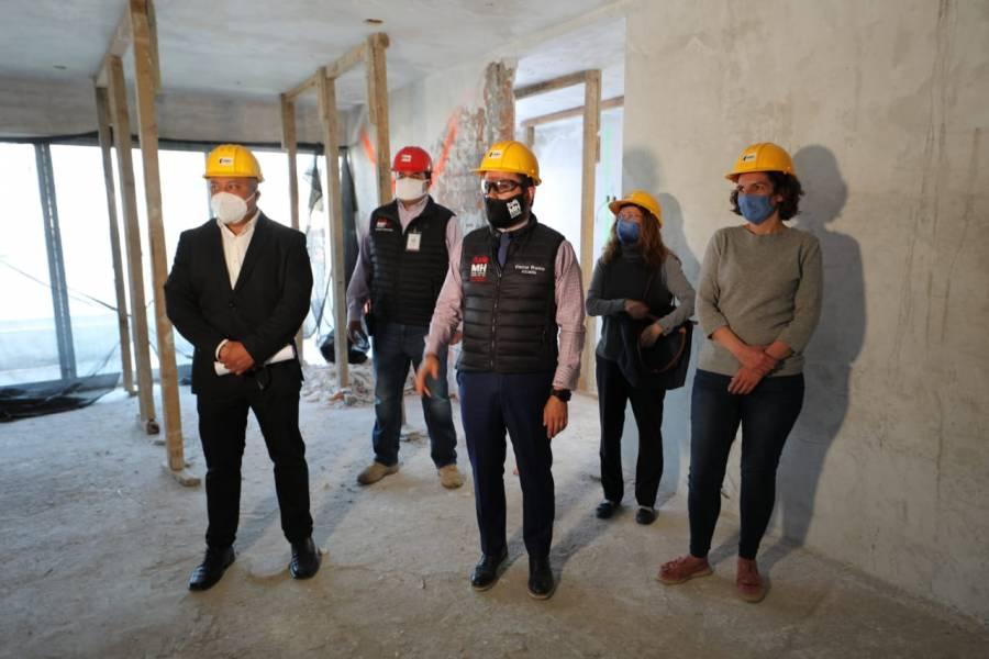 Supervisan demolición de obra ilegal en la alcaldía Miguel Hidalgo