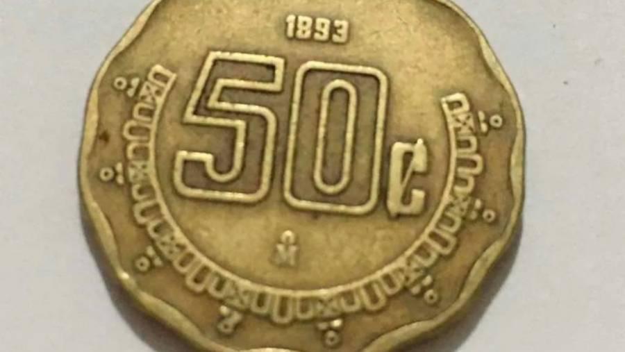 Monedas de 50 centavos se venden en más de tres mil pesos