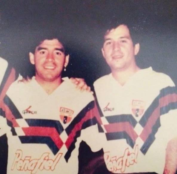 Cuando Maradona y Javier Alarcón fueron compañeros… ¡en el Atlante!