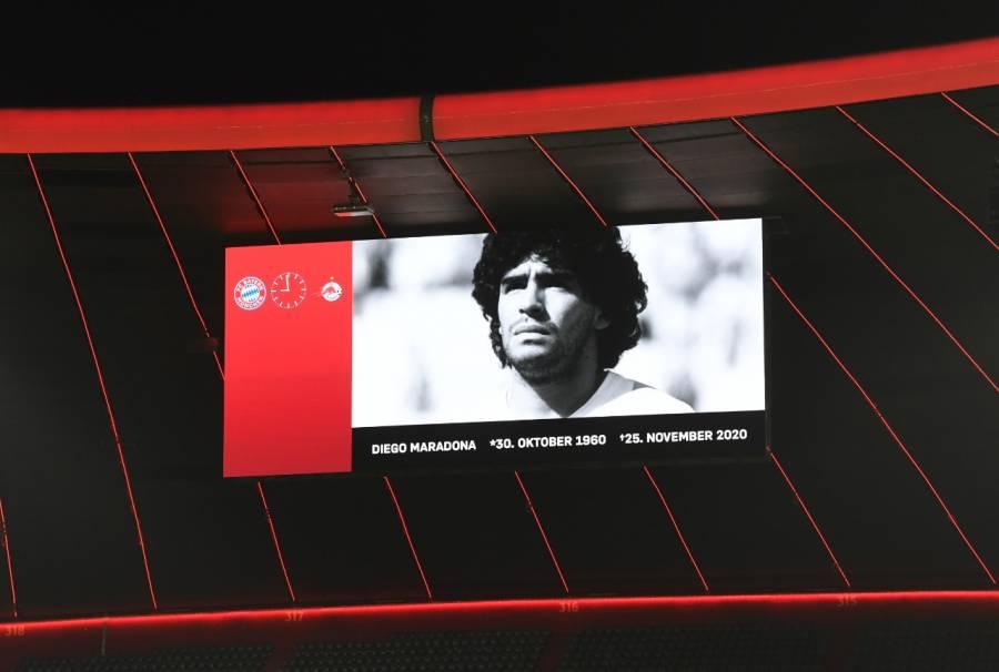 La Champions League rinde homenaje a Maradona