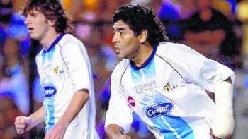 El día en el que Maradona jugó junto a Messi
