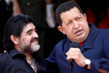 Maradona, un admirador de la izquierda