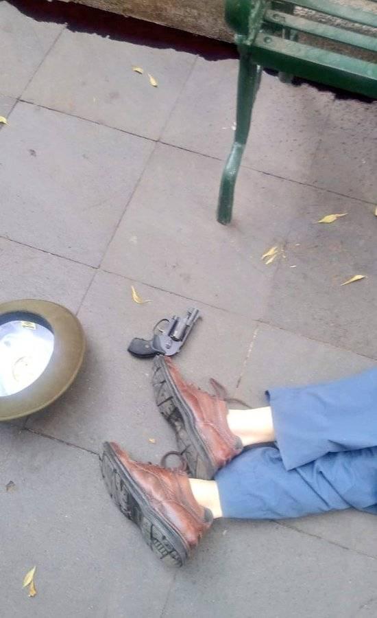 Abuelito se suicida en el centro de Coyoacán