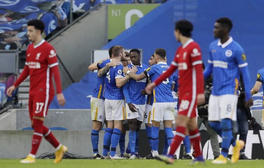Brighton rescata el empate frente al Liverpool gracias al VAR