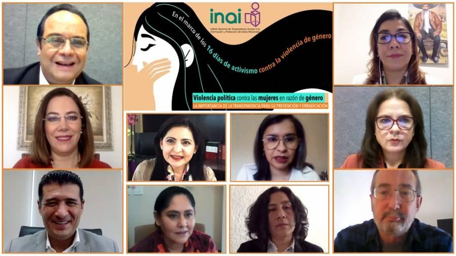 INAI se compromete con el combate a la violencia política contra las mujeres