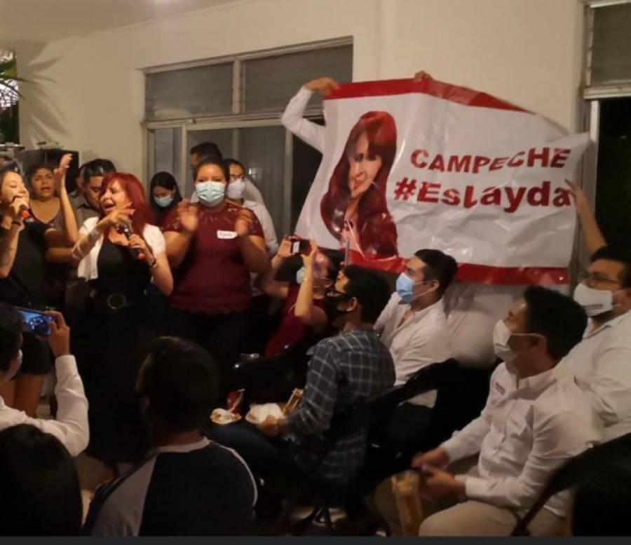 Adelanta Layda Sansores su campaña por Campeche