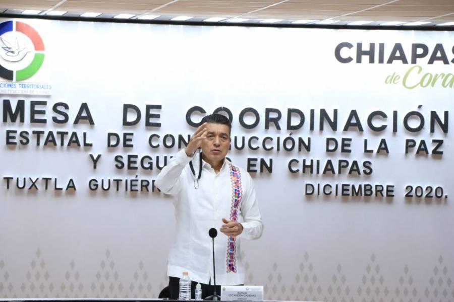 Continúa apoyo a población damnificada por lluvias en Chiapas
