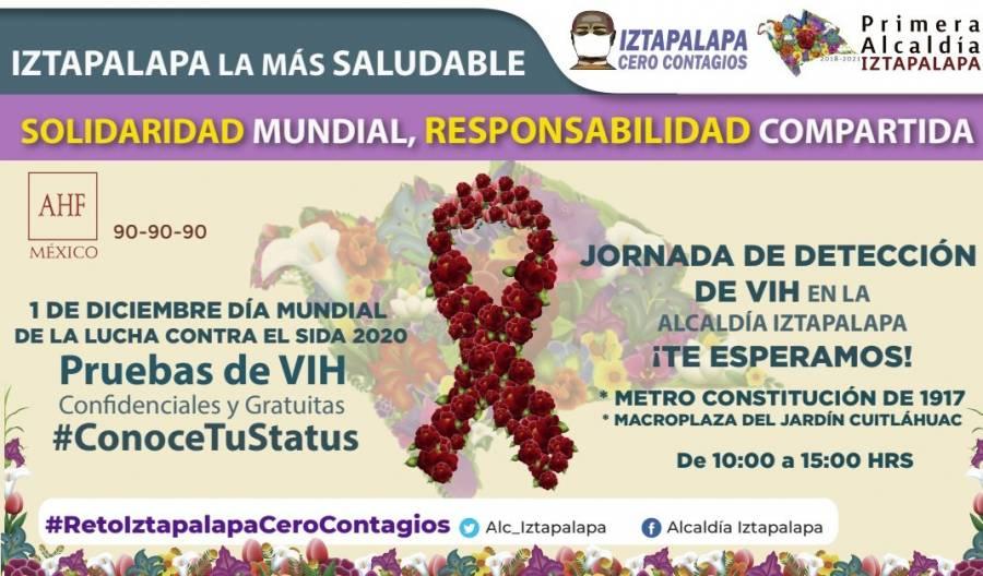 Iztapalapa anuncia jornada de detección de VIH/ SIDA