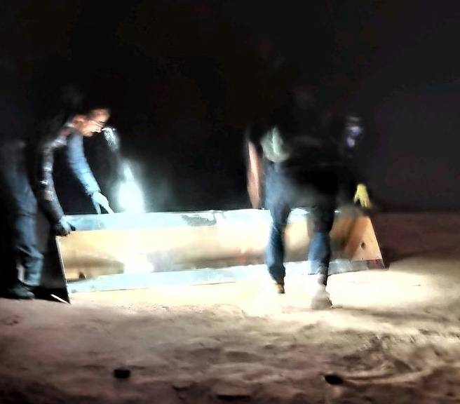 Captan momento en el que desaparece el monolito en Utah